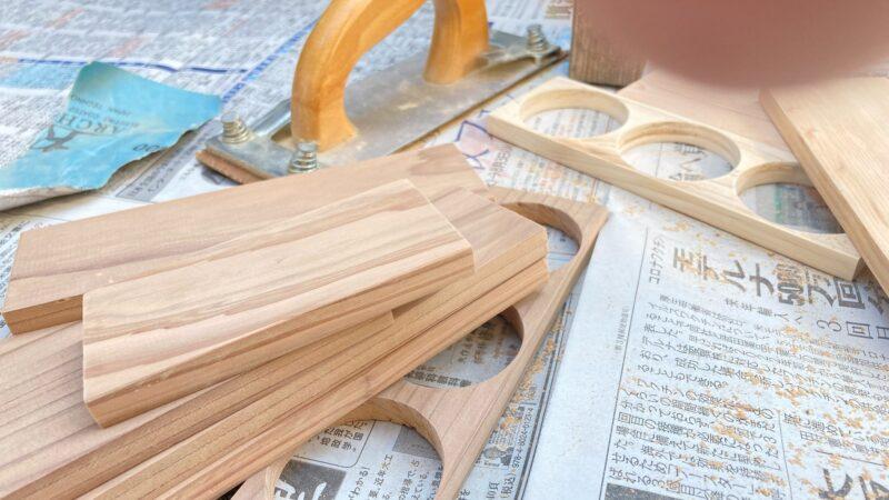 木材のやすりがけ